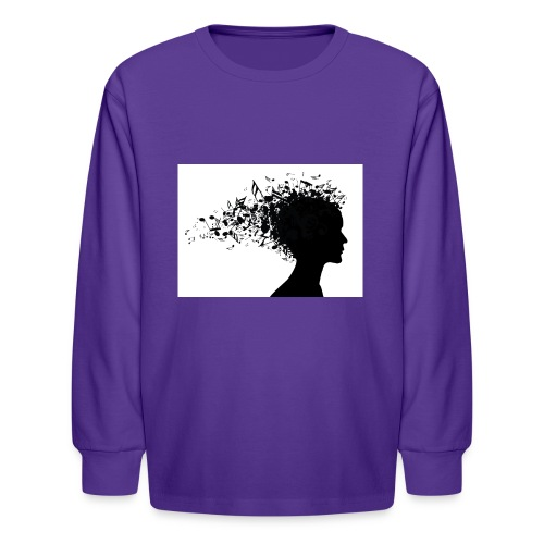 music through my head - Kids' Long Sleeve T-Shirt