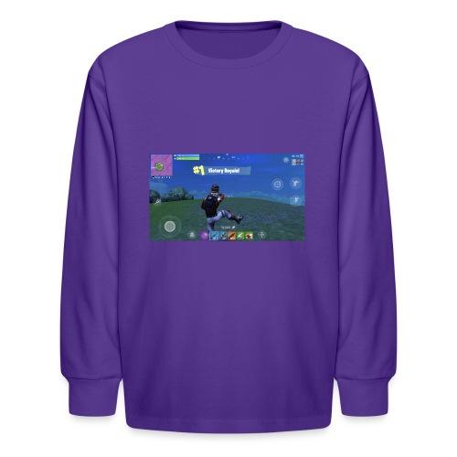 My First Win! - Kids' Long Sleeve T-Shirt