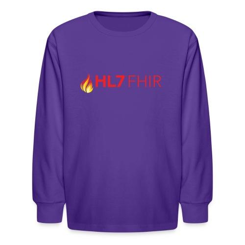 HL7 FHIR Logo - Kids' Long Sleeve T-Shirt