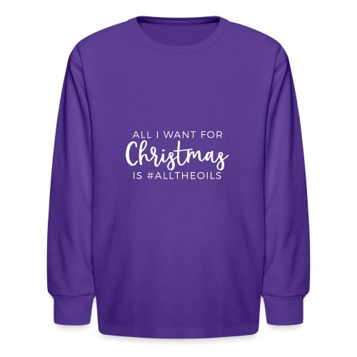 Christmas Oils - Kids' Long Sleeve T-Shirt