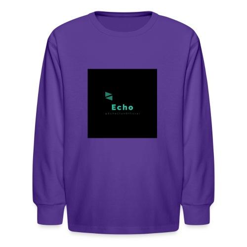 Echo Clan Offical Logo Merch - Kids' Long Sleeve T-Shirt