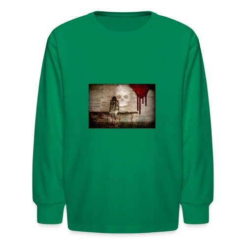sad girl - Kids' Long Sleeve T-Shirt