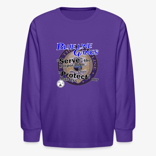 Thin Blue Line - To Serve and Protect - Kids' Long Sleeve T-Shirt