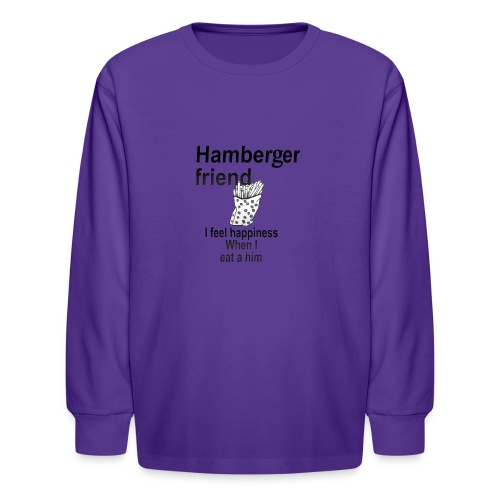 Hamberger friend - Kids' Long Sleeve T-Shirt