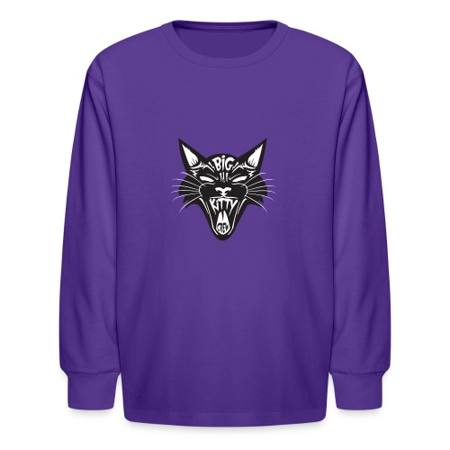 Big Kitty-Screaming Cat - Kids' Long Sleeve T-Shirt
