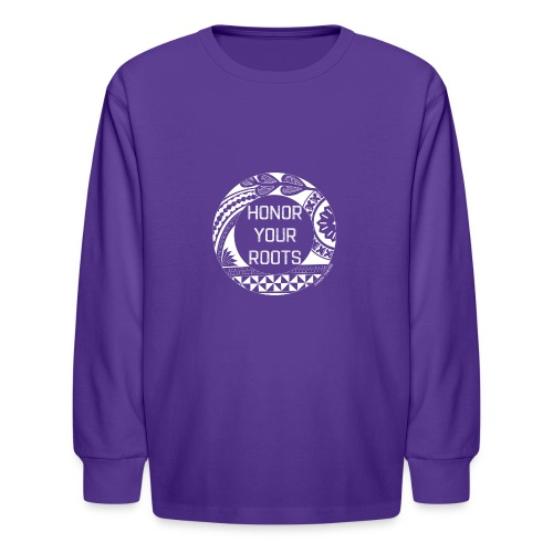 Honor Your Roots (White) - Kids' Long Sleeve T-Shirt