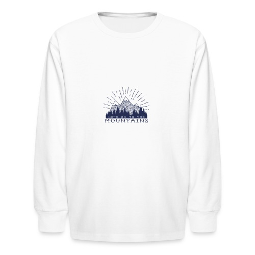 Adventure Mountains T-shirts and Products - Kids' Long Sleeve T-Shirt
