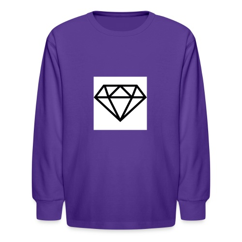 diamond outline 318 36534 - Kids' Long Sleeve T-Shirt
