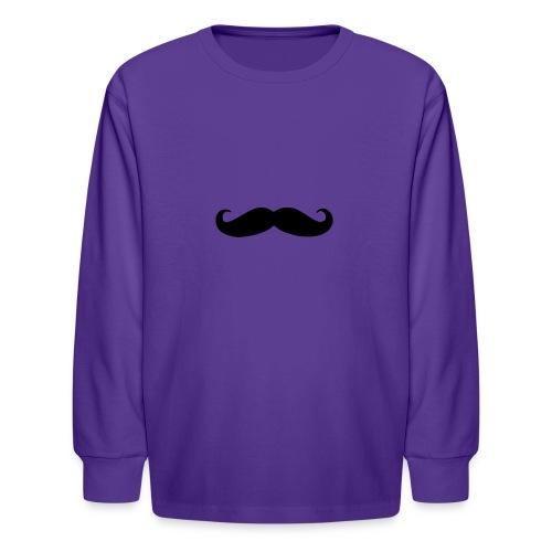 mustache - Kids' Long Sleeve T-Shirt