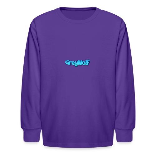 TEXT of GreyWolf - Kids' Long Sleeve T-Shirt