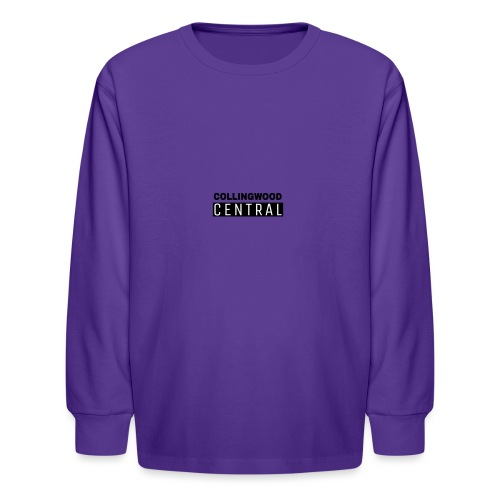 BLK Collingwood Central Logo - Kids' Long Sleeve T-Shirt