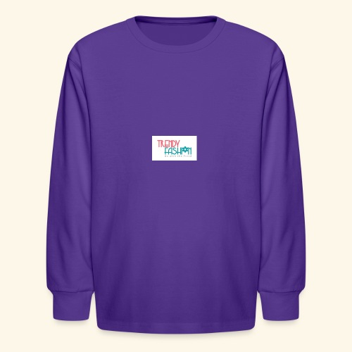 Trendy Fashions Go with The Trend @ Trendyz Shop - Kids' Long Sleeve T-Shirt