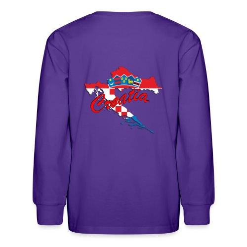 Croatia Football Team Colours T-Shirt Treasure Des - Kids' Long Sleeve T-Shirt