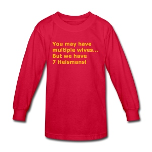 Multiple Wives - Kids' Long Sleeve T-Shirt