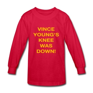 Vince Young's Knee Was Down - Kids' Long Sleeve T-Shirt