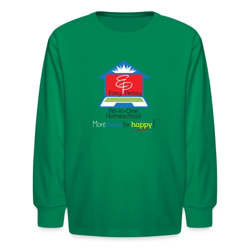 EP Logo with More Time For Happy! - Kids' Long Sleeve T-Shirt