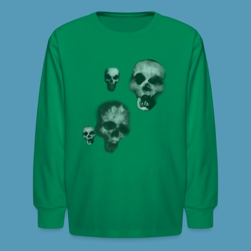 Bone skulls - Kids' Long Sleeve T-Shirt