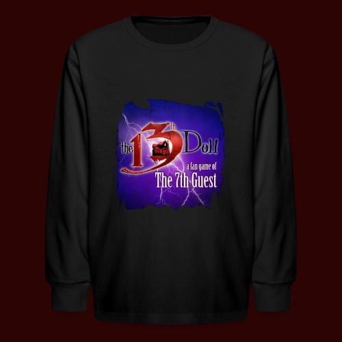 The 13th Doll Logo With Lightning - Kids' Long Sleeve T-Shirt