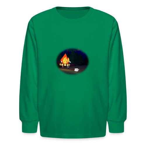 'Round the Campfire - Kids' Long Sleeve T-Shirt