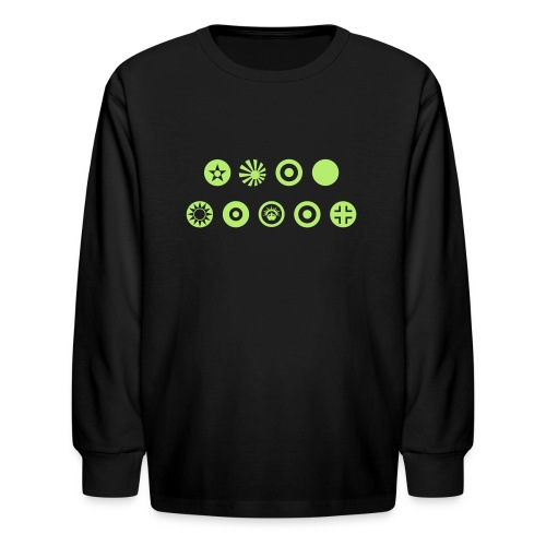 Axis & Allies Country Symbols - One Color - Kids' Long Sleeve T-Shirt