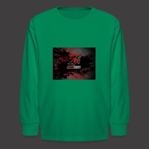 RedOpz Splatter - Kids' Long Sleeve T-Shirt