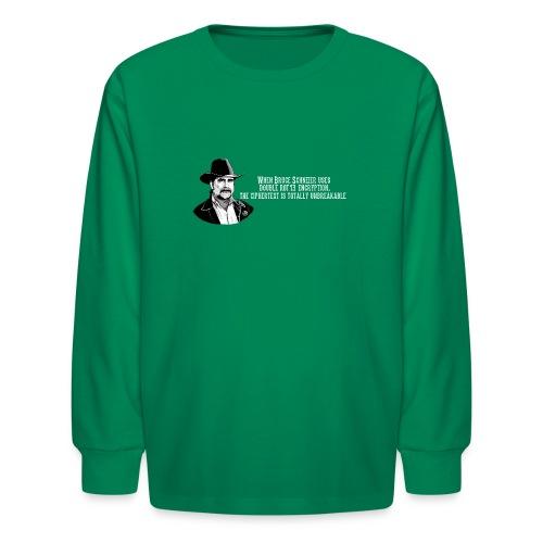 Bruce Schneier Fact #15 - Kids' Long Sleeve T-Shirt