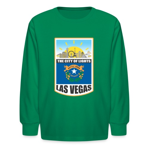 Las Vegas - Nevada - The city of light! - Kids' Long Sleeve T-Shirt