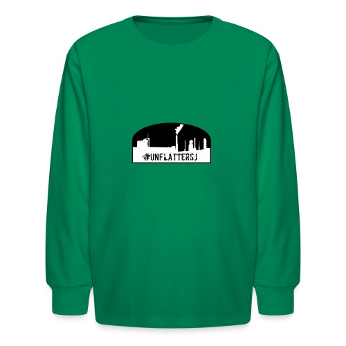 Unflatter Hashtag logo - Kids' Long Sleeve T-Shirt