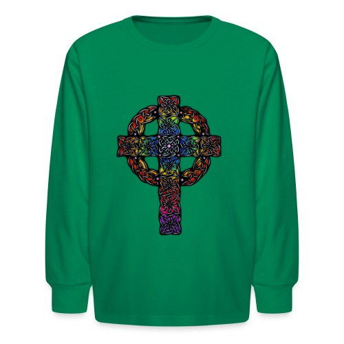 Celtic Cross rainbow - Kids' Long Sleeve T-Shirt