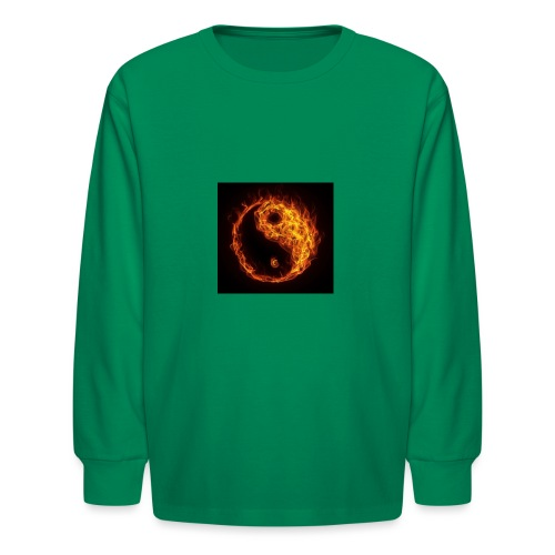 Panda fire circle - Kids' Long Sleeve T-Shirt