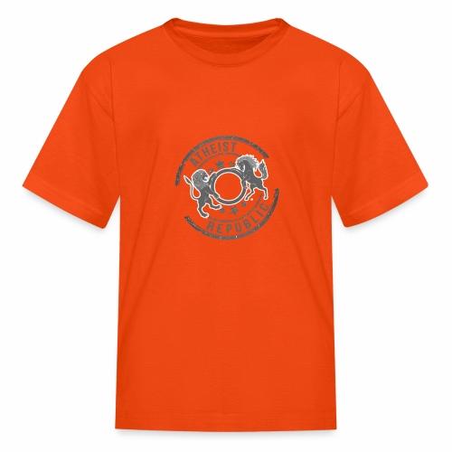 Atheist Republic Logo - Starred Stamp - Kids' T-Shirt