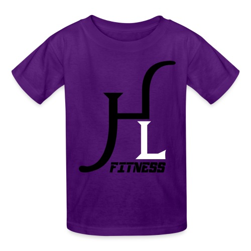 HIIT Life Fitness logo white - Kids' T-Shirt