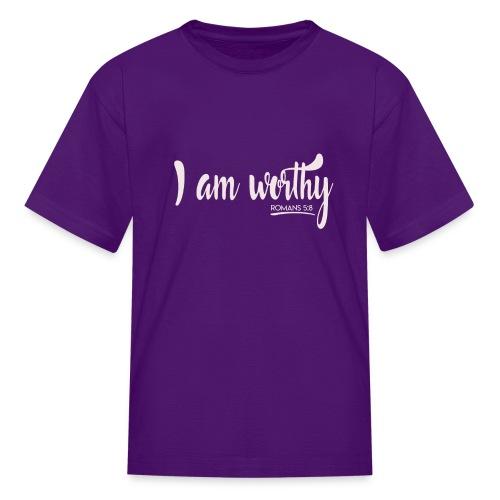 I am worth Romans 5:8 - Kids' T-Shirt