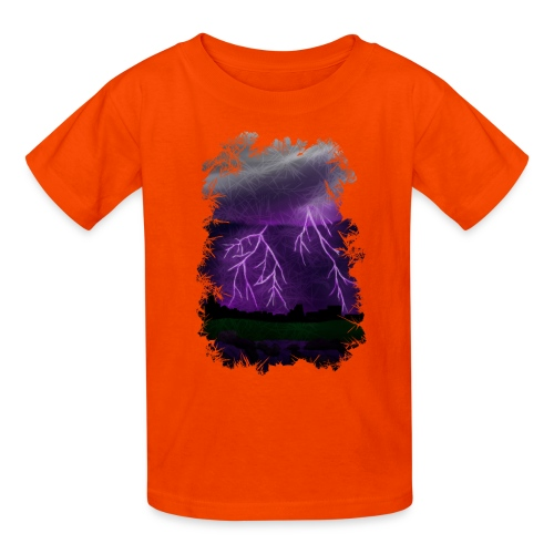Purple Lightning Scene - Kids' T-Shirt