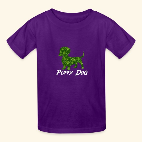 PUFFY DOG - PRESENT FOR SMOKING DOGLOVER - Kids' T-Shirt