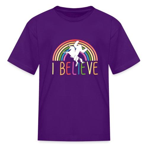 I Believe in Unicorns and Sasquatch Bigfoot - Kids' T-Shirt