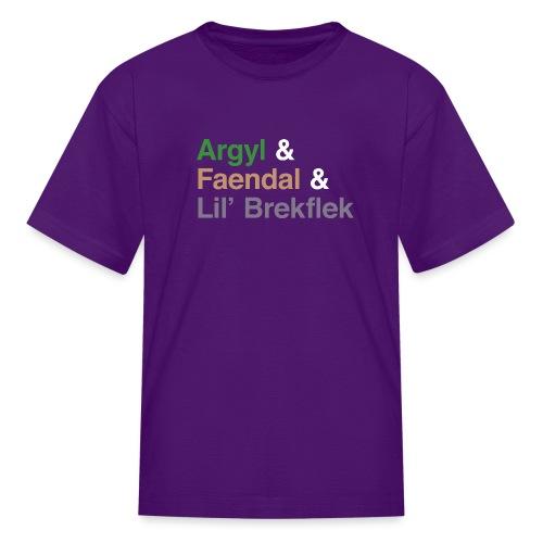argyl and friends - Kids' T-Shirt