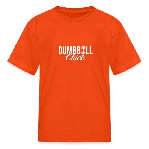 Dumbbell Fitness Chick - Kids' T-Shirt
