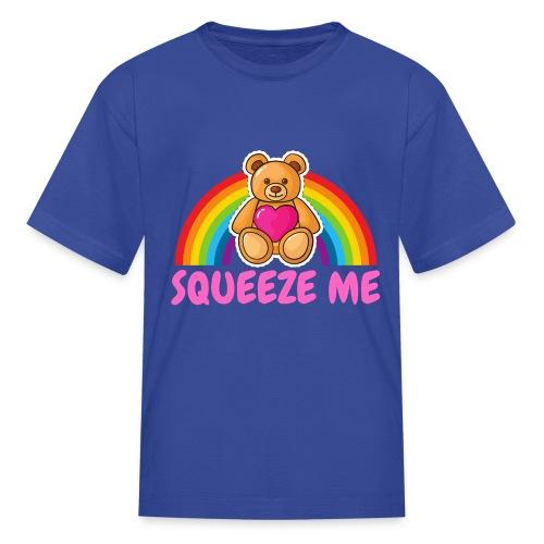 SQUEEZE ME teddy bear rainbow - Kids' T-Shirt