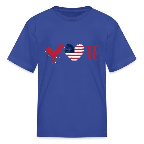 vote heart red - Kids' T-Shirt