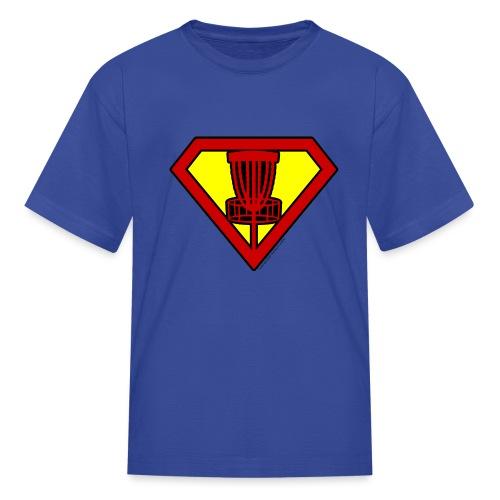 Super Hero Disc Golfer Shirt and Gifts - Kids' T-Shirt
