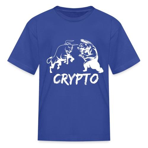 CryptoBattle White - Kids' T-Shirt