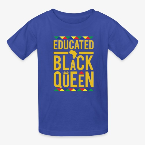 Educated Black Queen - Kids' T-Shirt