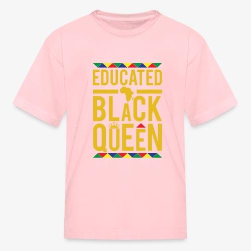 Educated Black Queen - Kids' T-Shirt