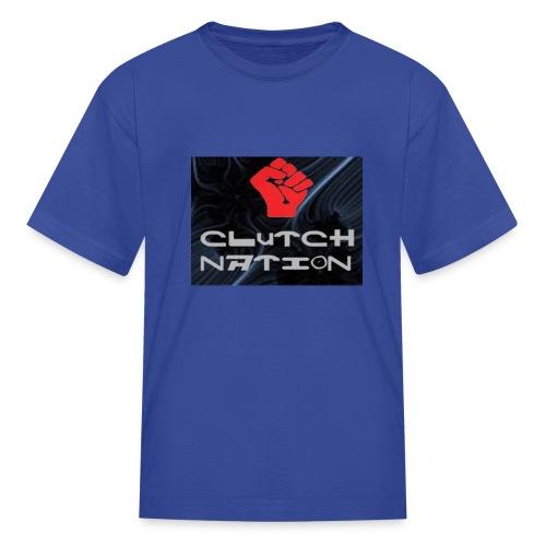 clutchnation logo merch - Kids' T-Shirt