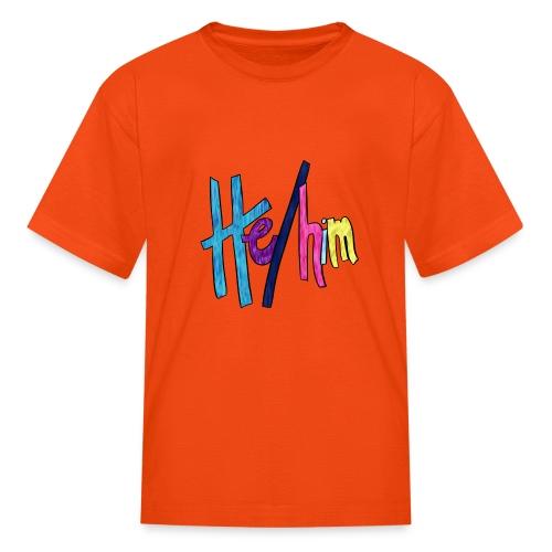 He/Him 1 - Small (Nametag) - Kids' T-Shirt