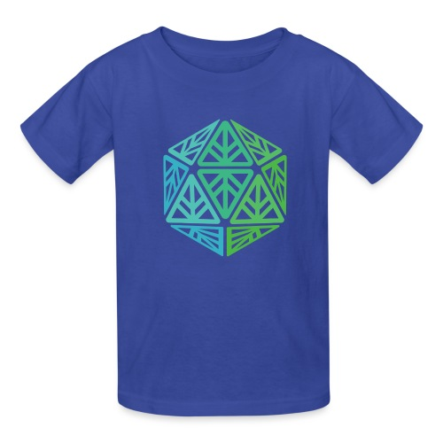 Green Leaf Geek Iconic Logo - Kids' T-Shirt