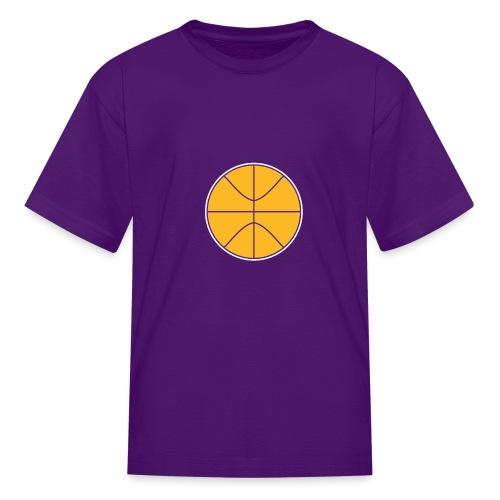 Basketball purple and gold - Kids' T-Shirt