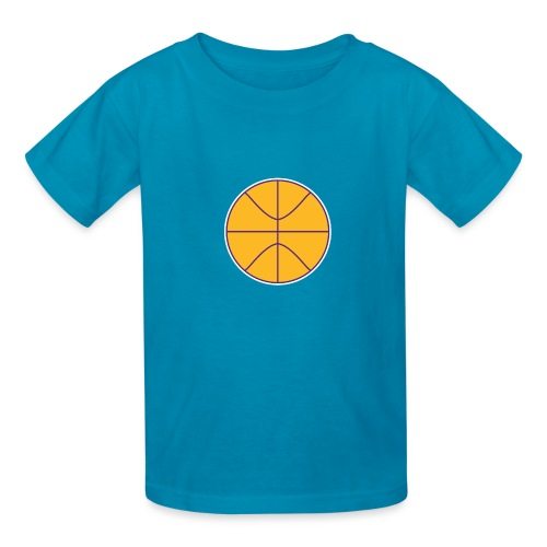 Basketball purple and gold - Kids' T-Shirt