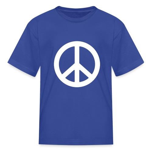Big White Peace Symbol - Kids' T-Shirt